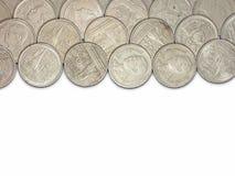 Moeda tailandesa do tipo isolada no fundo branco Imagens de Stock Royalty Free