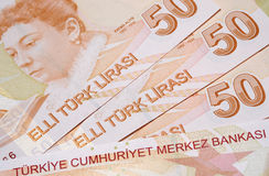 Moeda turca Foto de Stock Royalty Free