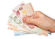 Moeda turca Imagem de Stock