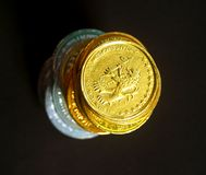 Moedas 4 foto de stock royalty free