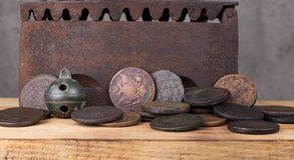 moedas Fotos de Stock