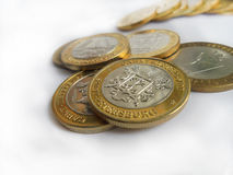 moedas Foto de Stock