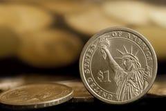 Moedas americanas do dólar Foto de Stock