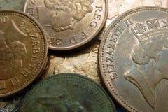 Moedas BRITÂNICAS Imagens de Stock Royalty Free