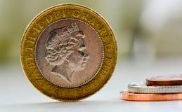 Moedas britânicas Fotografia de Stock Royalty Free