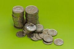 Moedas canadenses Imagem de Stock Royalty Free