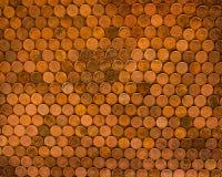 Moedas canadenses das moedas de um centavo Fotografia de Stock