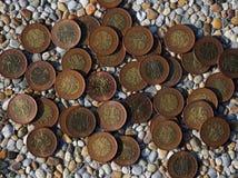 Moedas checas com valor de 50 coroas Fotografia de Stock Royalty Free