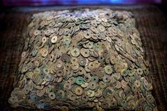 Moedas chinesas velhas Foto de Stock