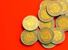 Moedas - close-up fotos de stock royalty free