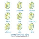 Moedas criptos 1 Imagem de Stock Royalty Free