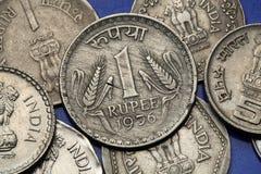 Moedas da Índia Fotos de Stock