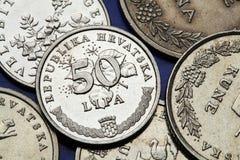 Moedas da Croácia Imagens de Stock Royalty Free