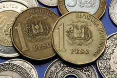 Moedas da República Dominicana Imagens de Stock Royalty Free