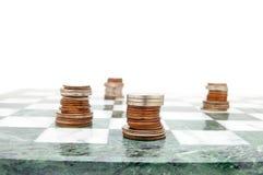 Moedas da xadrez fotos de stock royalty free
