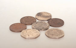 Moedas das moedas de um centavo, Reino Unido Imagem de Stock Royalty Free
