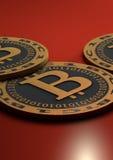 Moedas de Bitcoin Fotos de Stock
