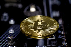 Moedas de Bitcoin Imagem de Stock Royalty Free