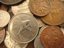 Moedas de Canadá Fotografia de Stock