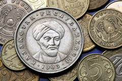 Moedas de Cazaquistão Imagem de Stock Royalty Free