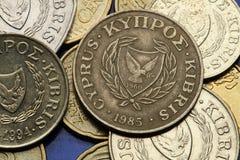 Moedas de Chipre Imagem de Stock
