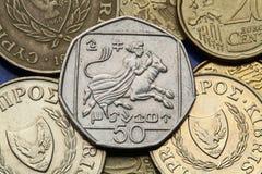 Moedas de Chipre Imagem de Stock Royalty Free