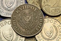 Moedas de Chipre Fotografia de Stock