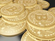 moedas de 3d Bitcoin Conceito de Cryptocurrency Foto de Stock Royalty Free