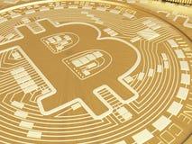 moedas de 3d Bitcoin Conceito de Cryptocurrency Fotografia de Stock Royalty Free