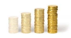 Moedas de desvanecimento de um dólar Fotos de Stock Royalty Free