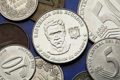 Moedas de Equador Fotografia de Stock Royalty Free