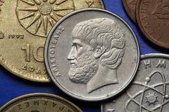 Moedas de Grécia Fotografia de Stock Royalty Free