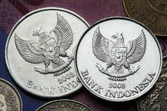Moedas de Indonésia Foto de Stock