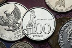Moedas de Indonésia Fotos de Stock Royalty Free