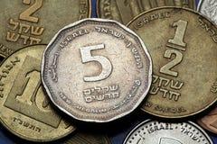 Moedas de Israel Imagens de Stock Royalty Free