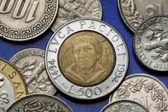 Moedas de Itália Fotos de Stock Royalty Free