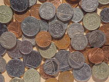 Moedas de libra em Londres Fotos de Stock