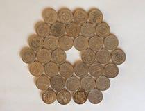 Moedas de libra, Reino Unido Fotografia de Stock