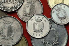 Moedas de Malta imagens de stock royalty free
