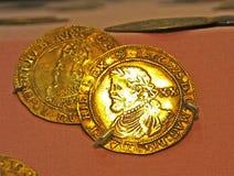 Moedas de ouro Imagem de Stock