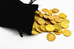 Moedas de ouro Fotografia de Stock Royalty Free