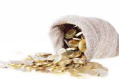 Moedas de ouro fotos de stock