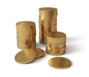 Moedas de ouro Fotografia de Stock