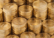 Moedas de ouro. Imagens de Stock