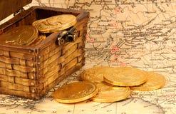 Moedas de ouro imagens de stock royalty free