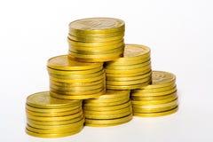 Moedas de ouro Foto de Stock Royalty Free