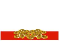 Moedas de ouro chinesas Imagens de Stock Royalty Free
