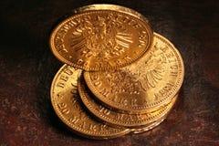 Moedas de ouro de Hamburgo Fotos de Stock