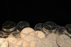 Moedas de prata puras Fotografia de Stock Royalty Free