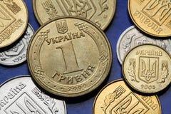 Moedas de Ucrânia Fotografia de Stock Royalty Free